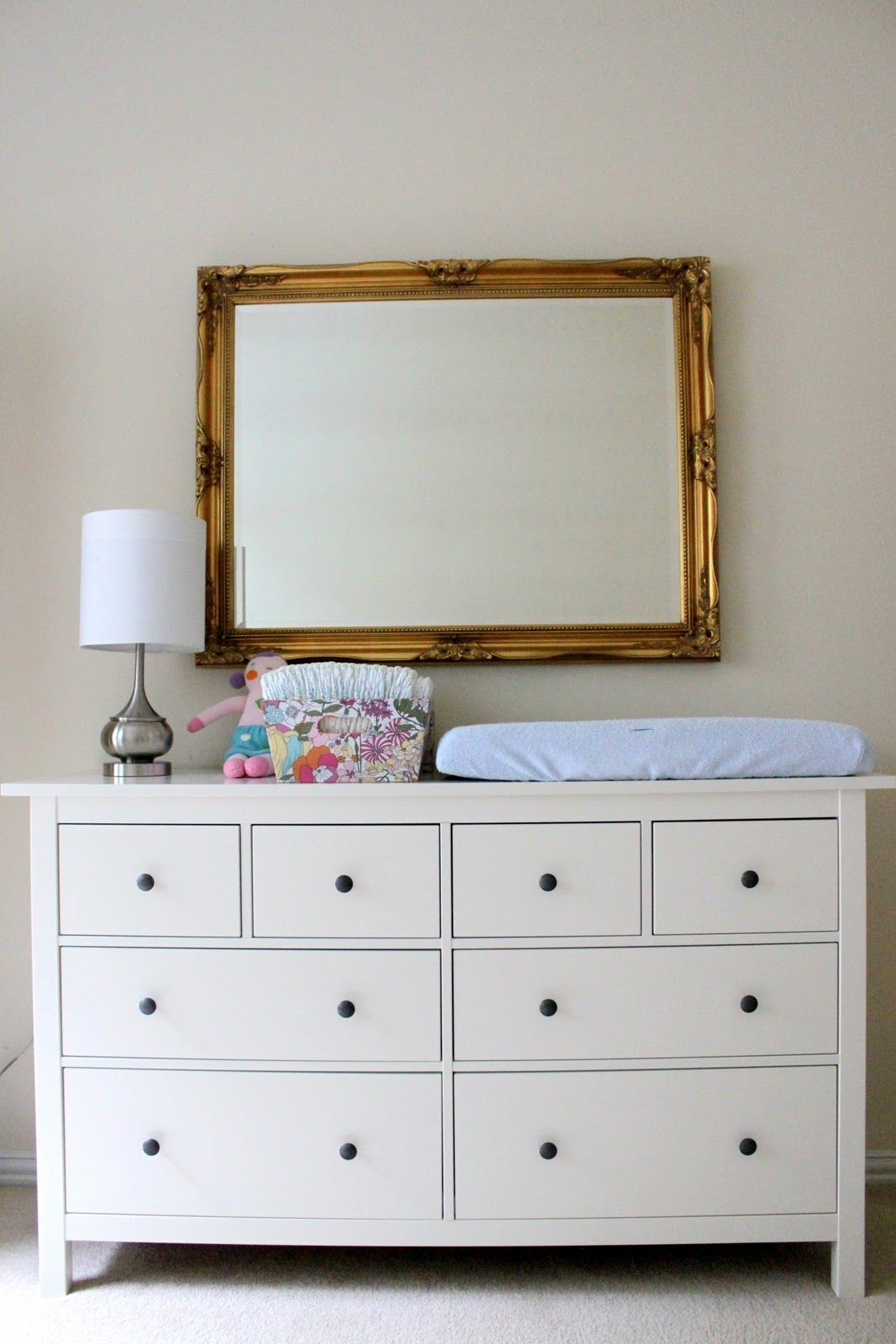 Possible Dresser Ikea Hemnes Could Use As Changing Table Combo And Put Desk Cur In Guest Room