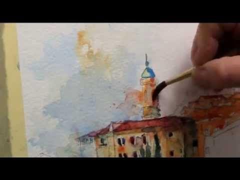 Watercolor Demo Gerard Hendriks Assisi Youtube Schilderlessen