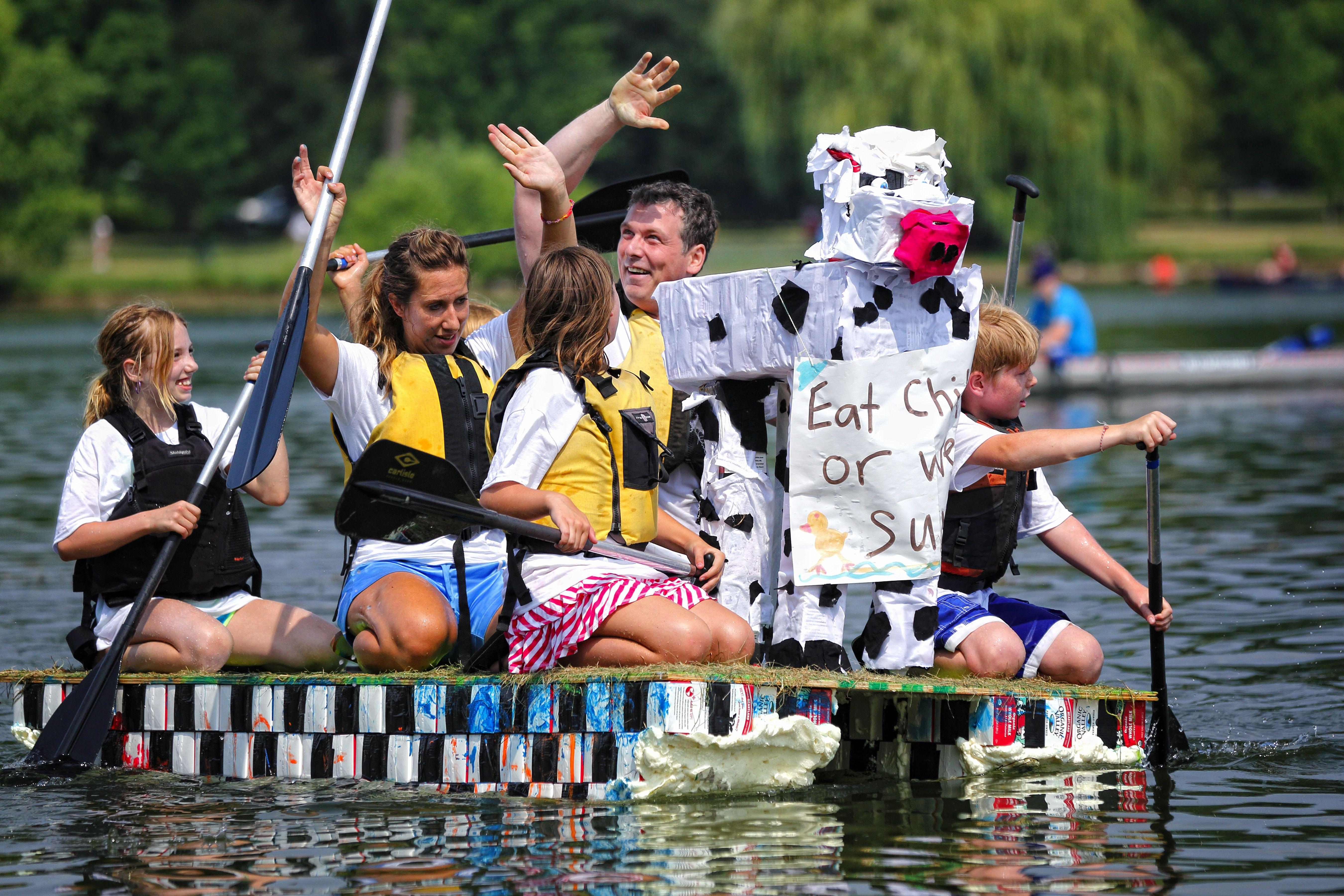 Aquatennial milk carton boat races during the 2012 Star