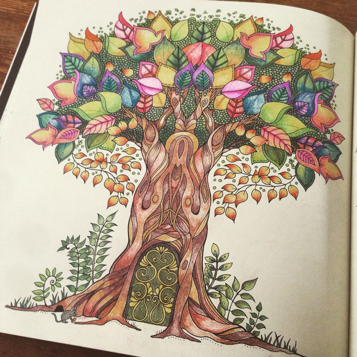 Enchanted Forest Inky Quest Colouring Book Tree