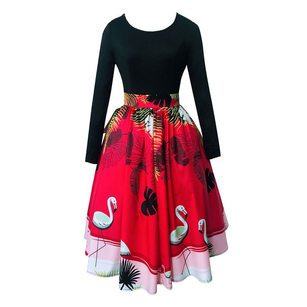 Intage swing pin up ladies s retro vcocktail rockabilly dress