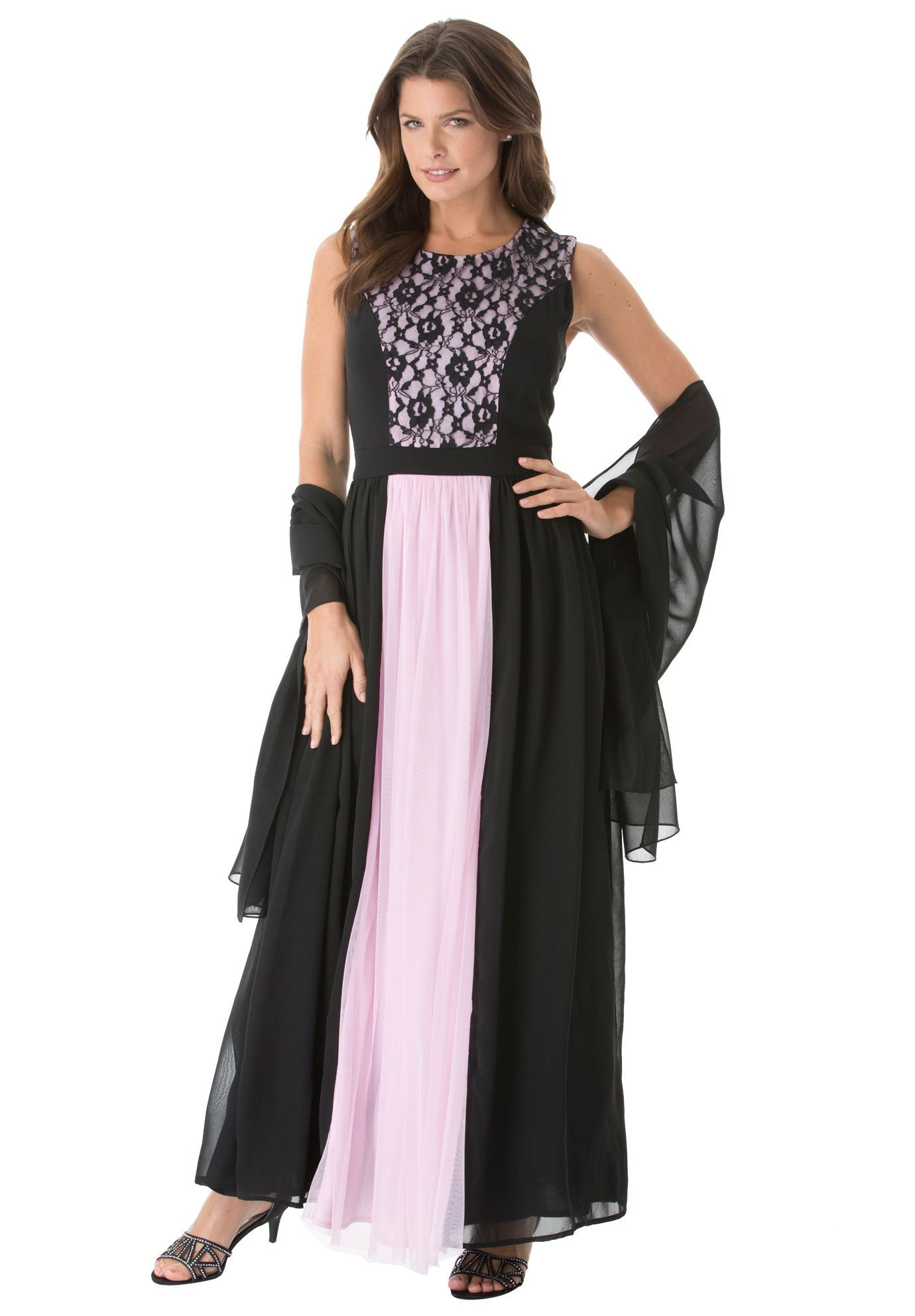 Colorblock Lace Dress Plus Size Special Occasion Shop Fullbeauty