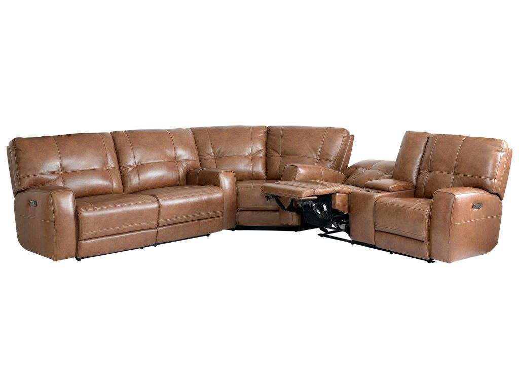 Bassett Conway Casual Power Reclining Curved Corner Sectional Becker Furniture World Reclining Sectional Reclining Sectional Sectional Power Reclining Sofa