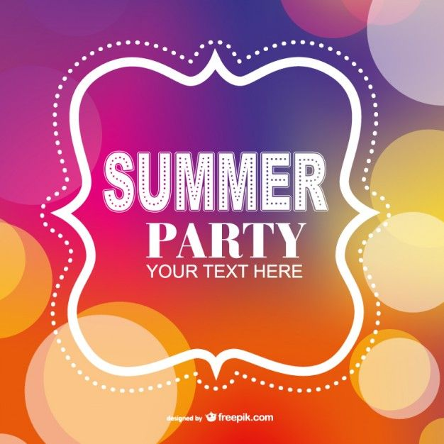summer party poster invitation template free vector | graphic, Hause und Garten