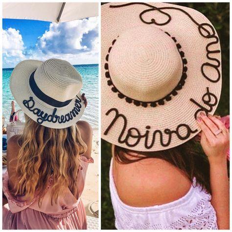 a491dc077269b Como fazer um chapéu de praia personalizado.