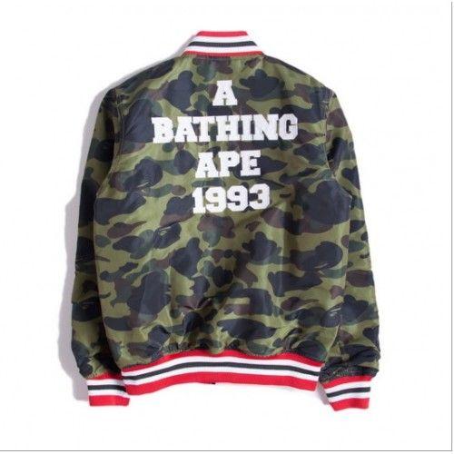 0d7eb79cec4c3 A Bathing Ape BAPE Original Standard Camo Varsity Jacket (Camo ...