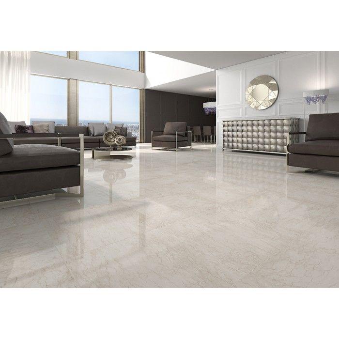 carrelage gr s c rame effet marbre poli perlino 2. Black Bedroom Furniture Sets. Home Design Ideas