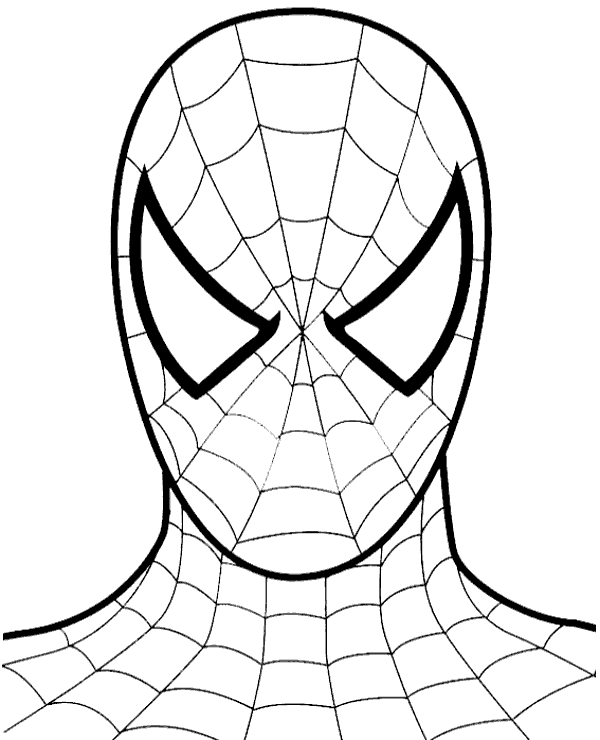 Full Face Of Spider Man You Must Excite To Draw Under 3 Easy Steps Spiderman Coloring Spiderman Face Free Coloring Pages
