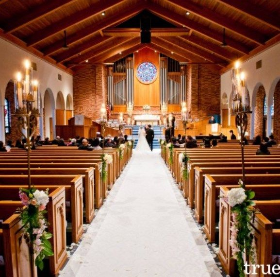 Wedding Church Decorations Ideas: Church Aisle Decorations...this Could Be Done With Roses