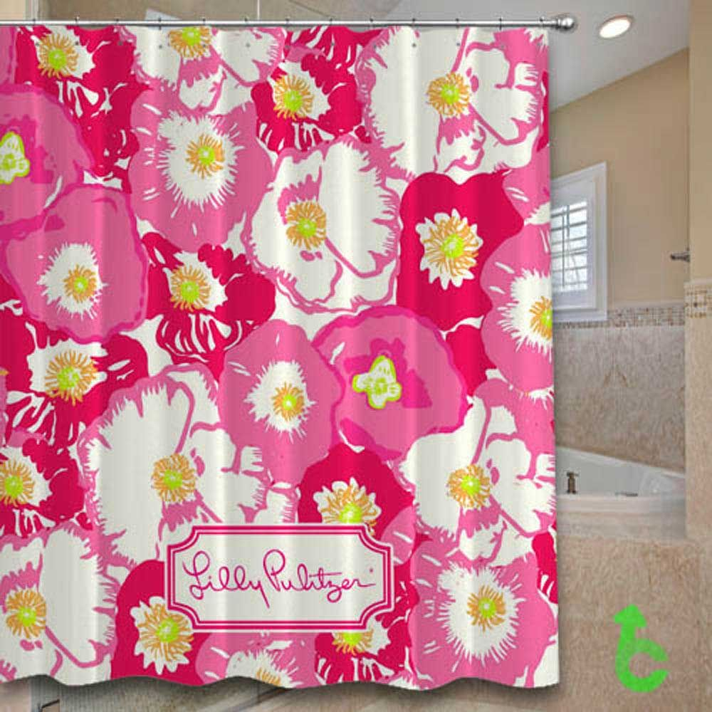 Cheap Lilly Pulitzer Cherry Begonias Shower Curtain Cheap