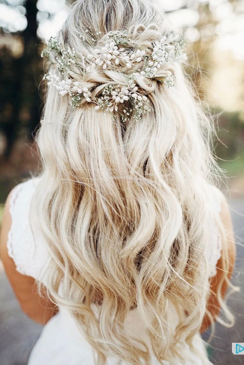 "boho wedding hair half up half down | ii""ii hair 