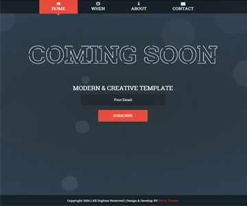 Comcam Is A Free Coming Soon Template Templates Features Javascript Css3 Animation Bootstrap 3 Html5 Valid Clean Code Fully Responsive
