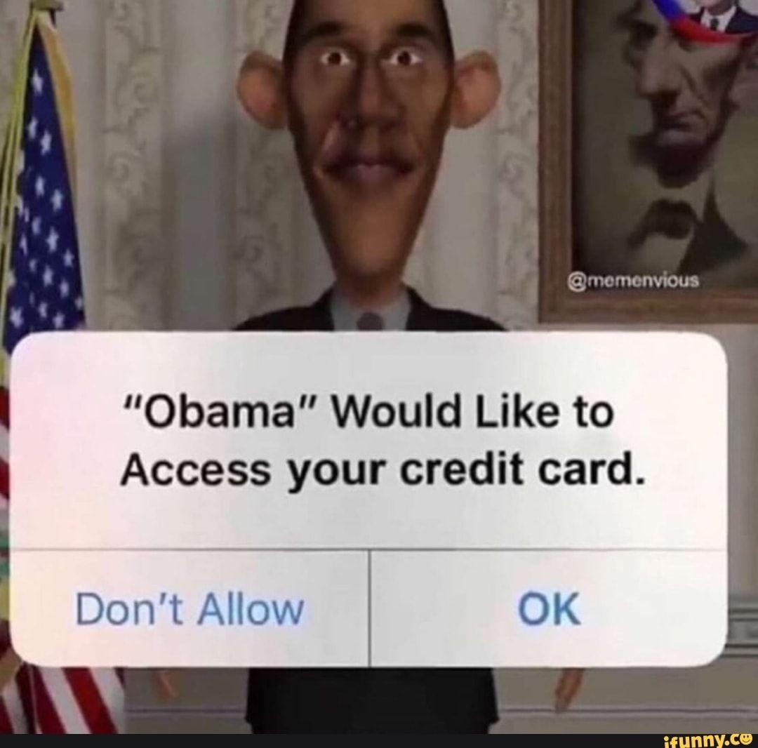 credit card declined meme