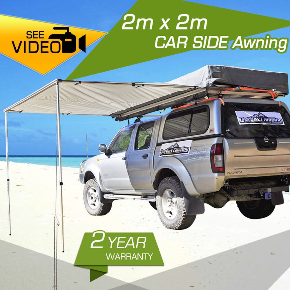 20M AWNING ROOF TOP TENT CAMPER TRAILER 4WD 4X4 SIDE CAMPING CAR RACK Pull Out