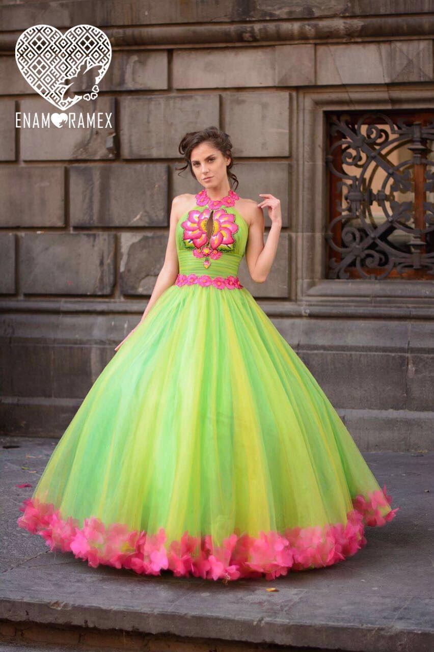 Modelo Guacamole Vestido De Xv Años Creado Por Enamoramex
