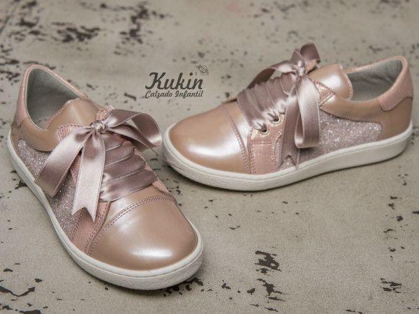 f9ec86426 zapatos-deportivos-niña-landos sneakers-niña-rosas calzado infantil -  calzado