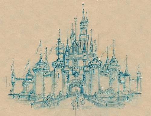 cinderella 's and magic kingdom castle sketch. #disney #sketch