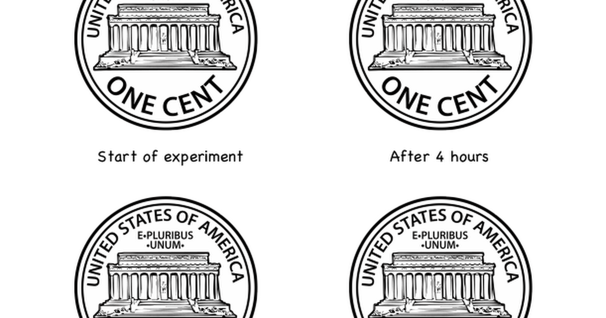 Chemical Reactions: Make a Penny Turn Green (with free