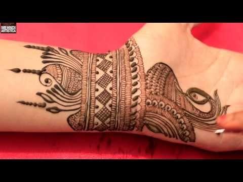 Mehndi Back Tattoo Designs : Arabic mehndi design for back hands simple
