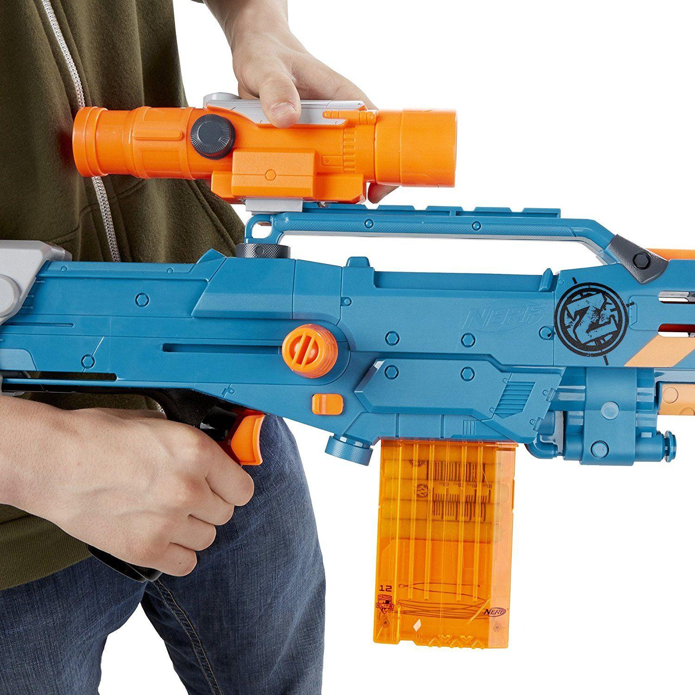 Amazon.com: Nerf Zombie Strike ZED Squad Longshot CS-12 Blaster: http