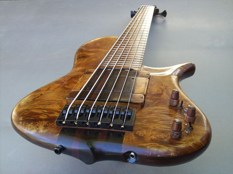 six string single cut bass by ken bebensee basses basically pinterest bass guitars and. Black Bedroom Furniture Sets. Home Design Ideas