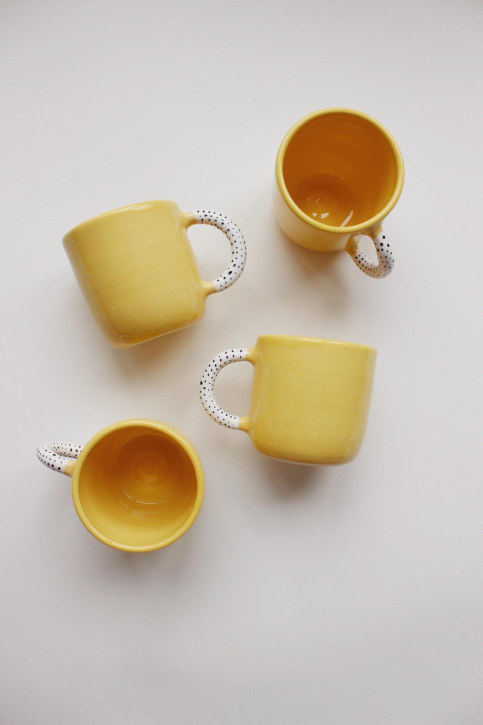 Jaune, tasse en porcelaine, tasse à thé, tasse, Mug surdimensionné, Сoffee tasse, cadeau les amateurs de café, nouveau cadeau décoration, cadeau de pendaison de crémaillère, tasse en céramique