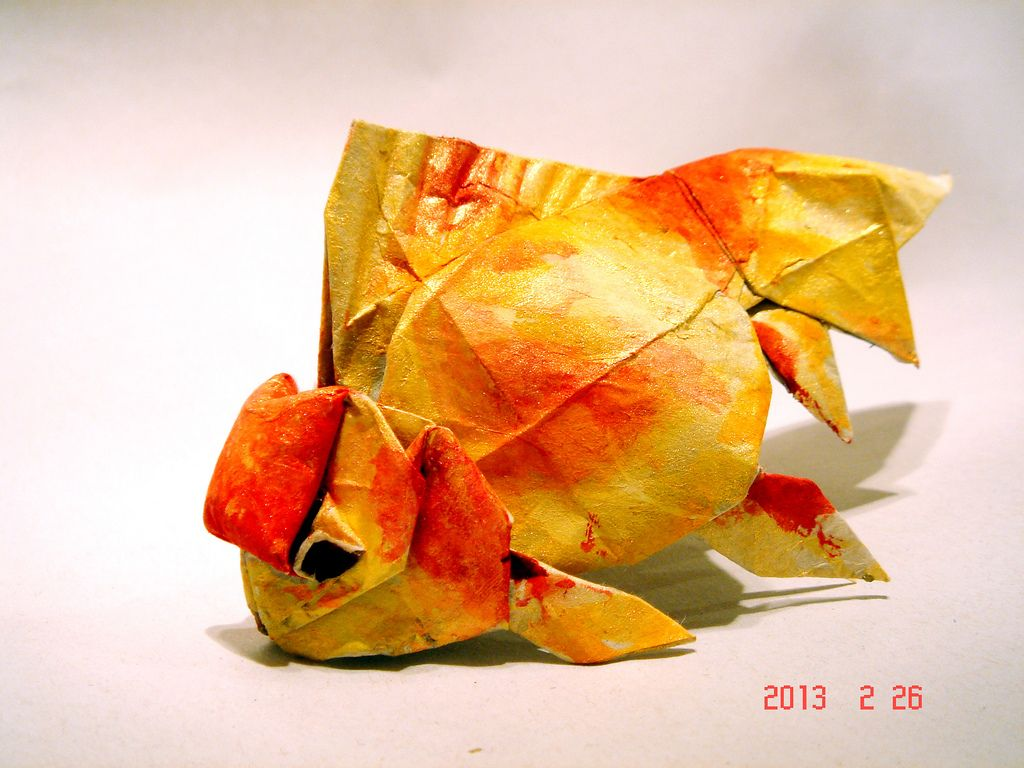 f466f18ffb83 Orango Goldfishred Top Lion Head By Linny Young Origami Red TopsGoldfish  Drawing