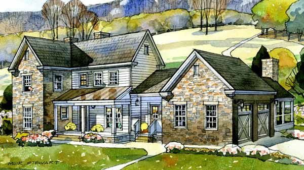 Great Family Home  Valley View Farmhouse, Plan 1718 | Southern