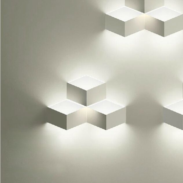 5pcs/lot Creative Design Modern Minimalist Restaurant Bedroom Single Head  White Wireless LED Wall Lamp