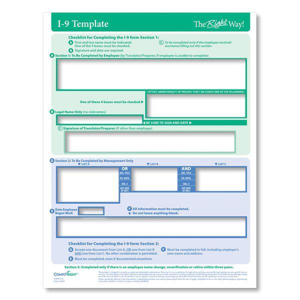 Form I 9 Eligibility Verification Template A0944 Templates I 9