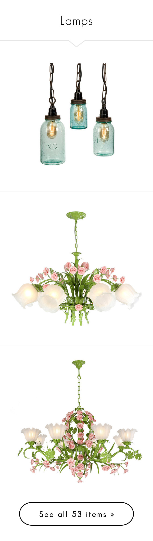 Lamps by susy v liked on polyvore featuring home lighting ceiling lights green pendant light plug in pendant light plug in ceiling lamp plug in pendant lights plug in hanging lamps white flower chandelier arubaitofo Image collections