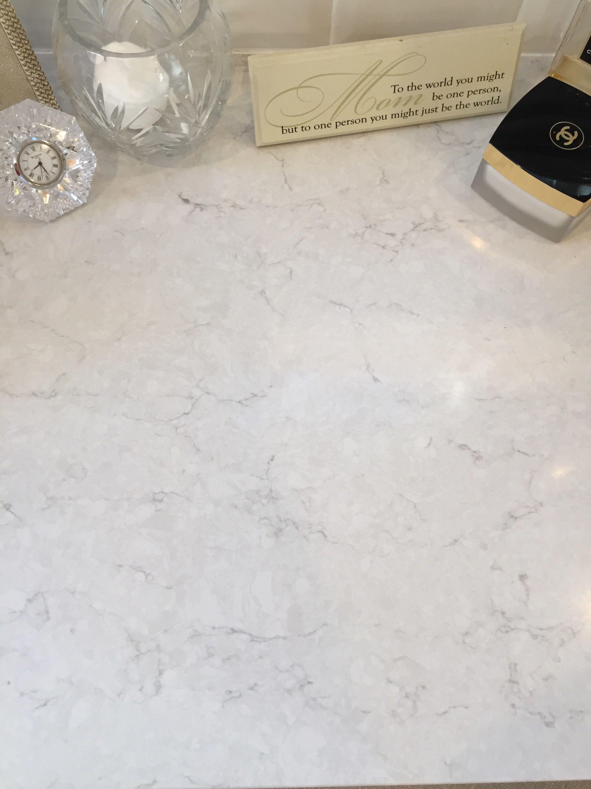 Snowy Ibiza Quartz Kitchen Countertops