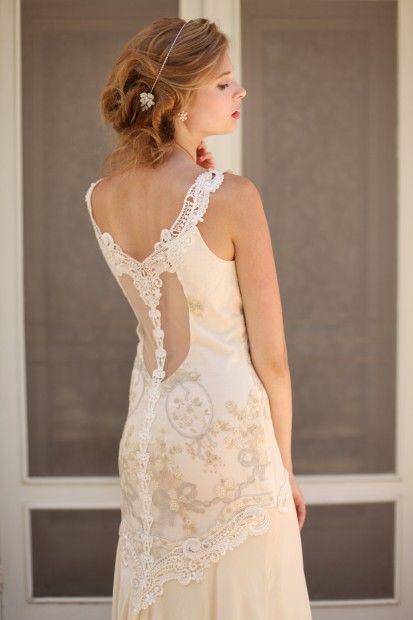 Claire Pettibone Thalia Gown Soft And Pretty Styled Bridal Photo