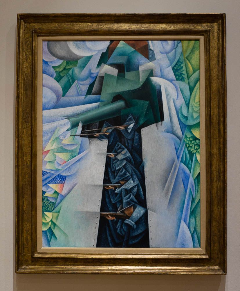 Gino Severini Armored Train in Action 1915 Museum of