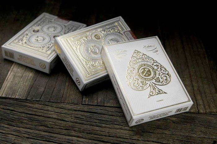 Artisan White Edition Playing Cards - The Dieline -