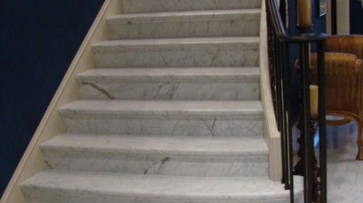Rye Marble Stair, Treads And Risers | Carrara Stair Treads And Risers2
