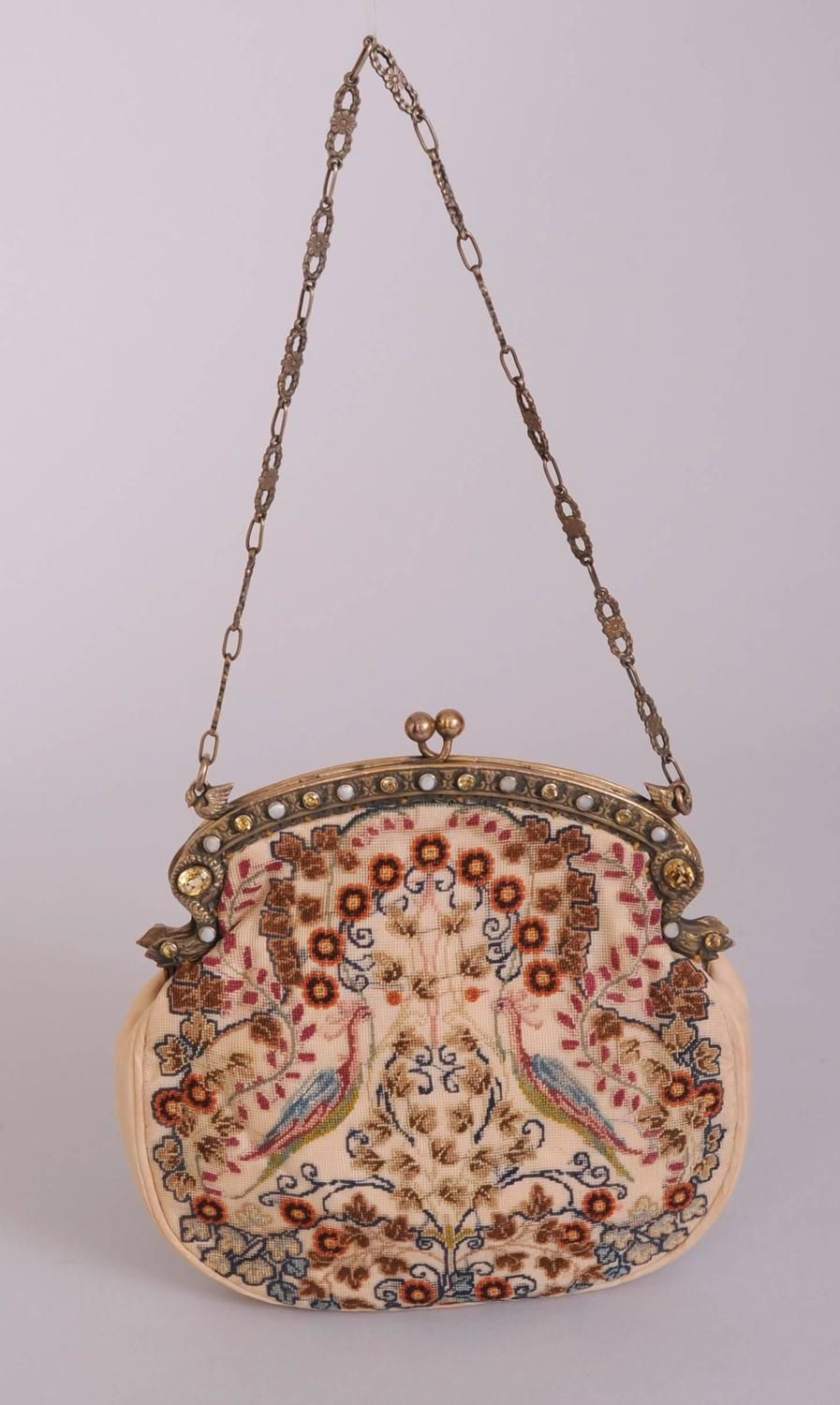 1stdibs Italian Needlework Bag Gold Washed Sterling Silver With Citrines And Pearls ABWJV8wW