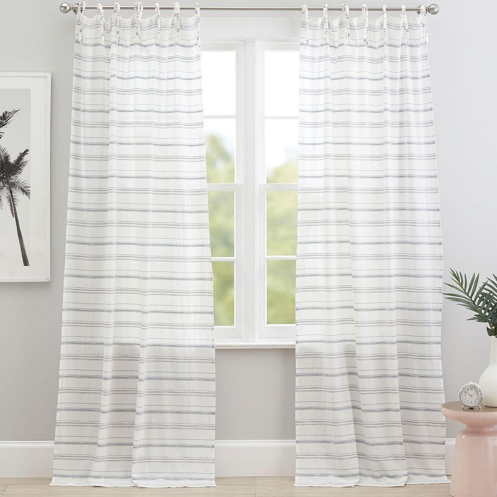 Roxy Stripe Sheer Curtain Panel 84 Multi In 2020 Sheer
