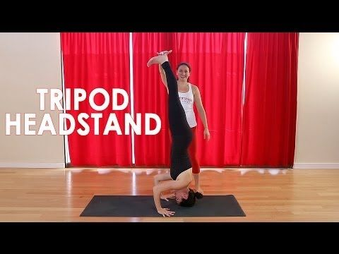 power yoga canada's pose of the month  tripod headstand