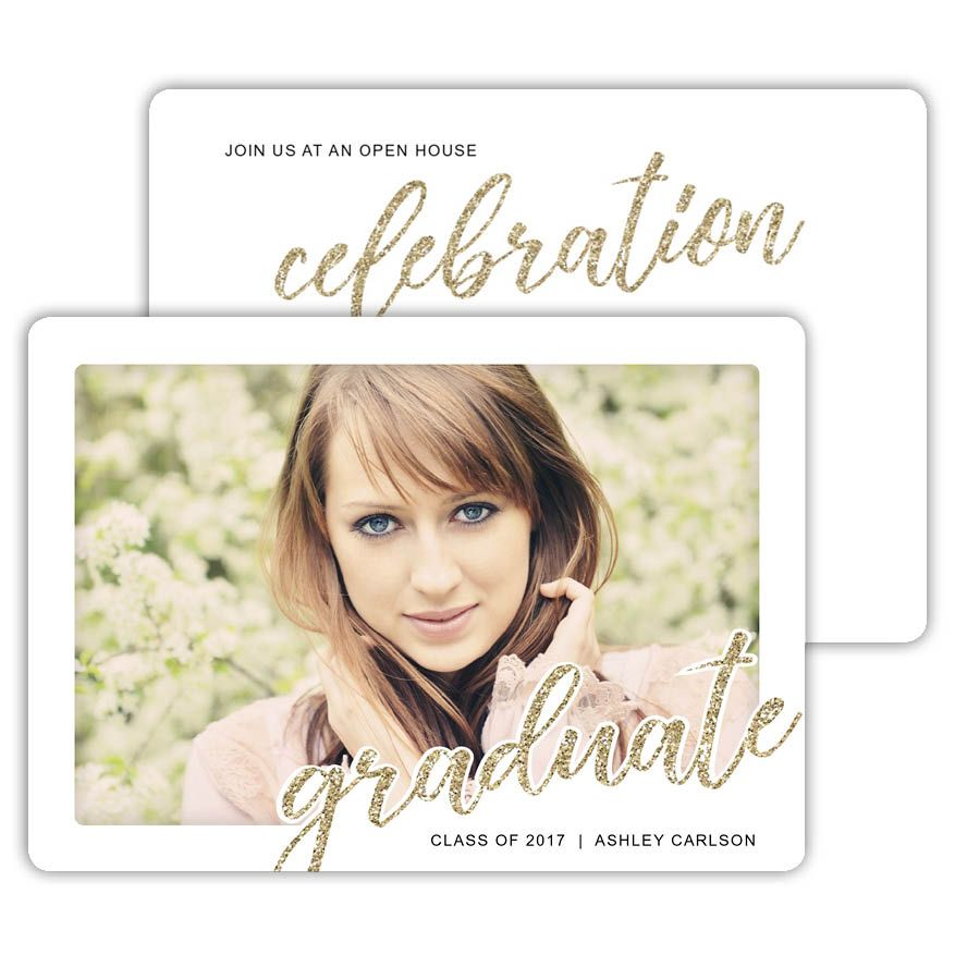 Glittered graduate create your own graduation invitations and glittered graduate create your own graduation invitations and announcements with focus in pix free filmwisefo