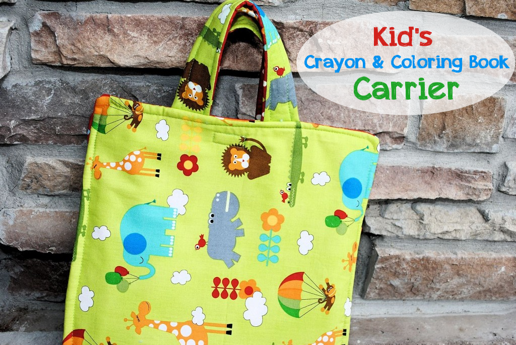 Coloring Book And Crayon Tote Bag Tutorial By Christynelson Net Via Flickr Diy Pouch No Zipper Bag Pattern Sewing Tutorials