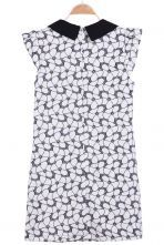 Black Contrast Collar Sleeveless Pockets Dress - Sheinside.com