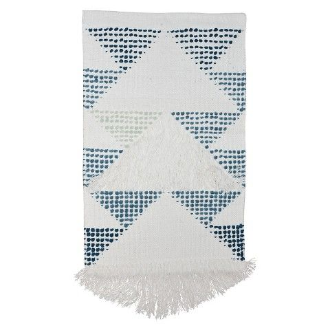 Target Wall Decor unique blue + white eclectic home office wall decor idea