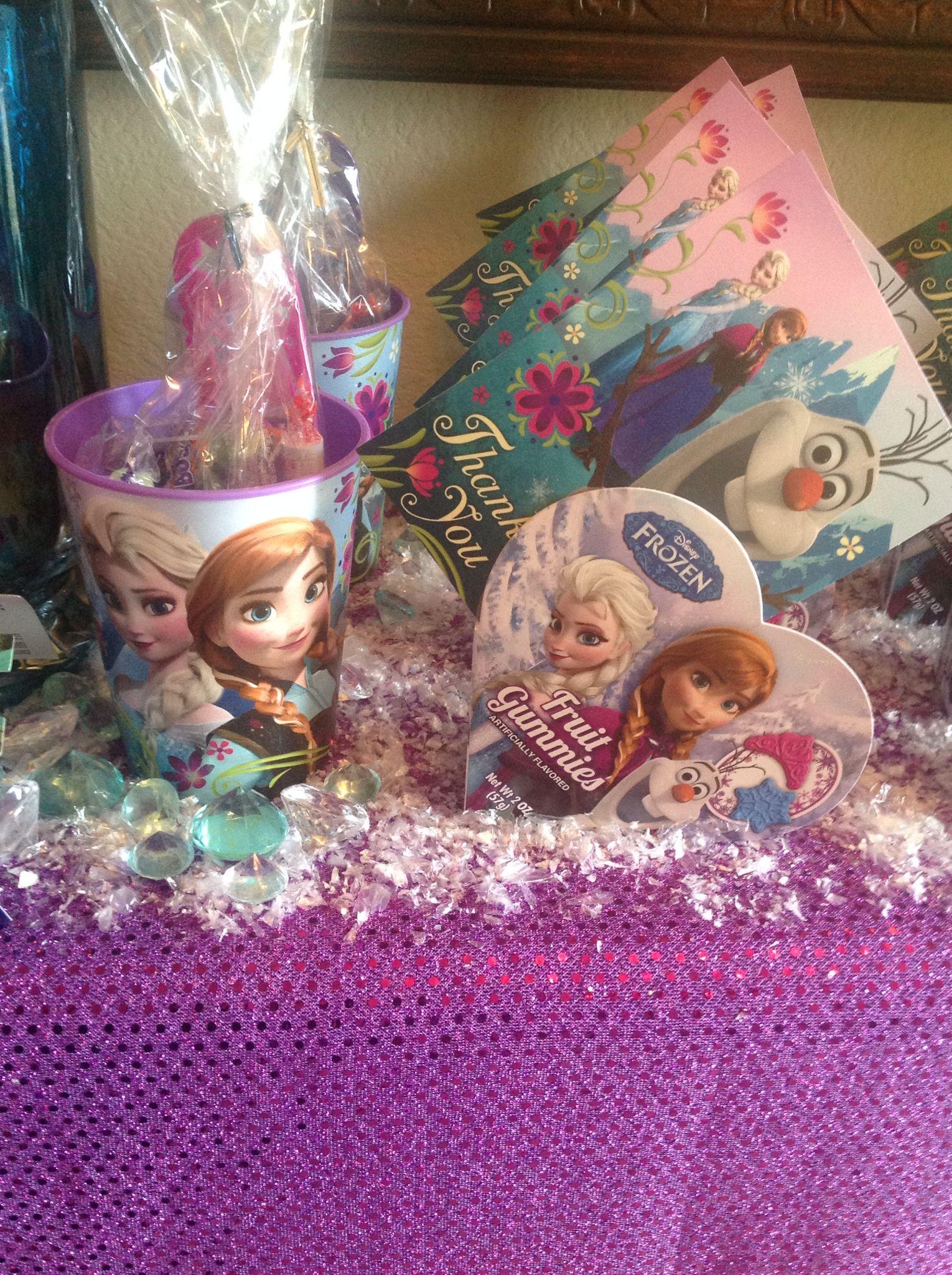 Frozen Theme Party Favors