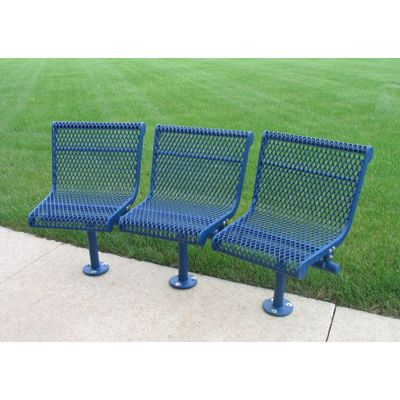 Curved 3 Seat Outdoor Bench Expanded Metal Mesh Outdoor Bench Outdoor Seating Expanded Metal