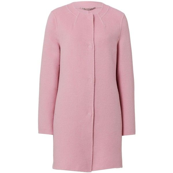 Basler Round Neck Wool Coat ($345) ❤ liked on Polyvore featuring ...