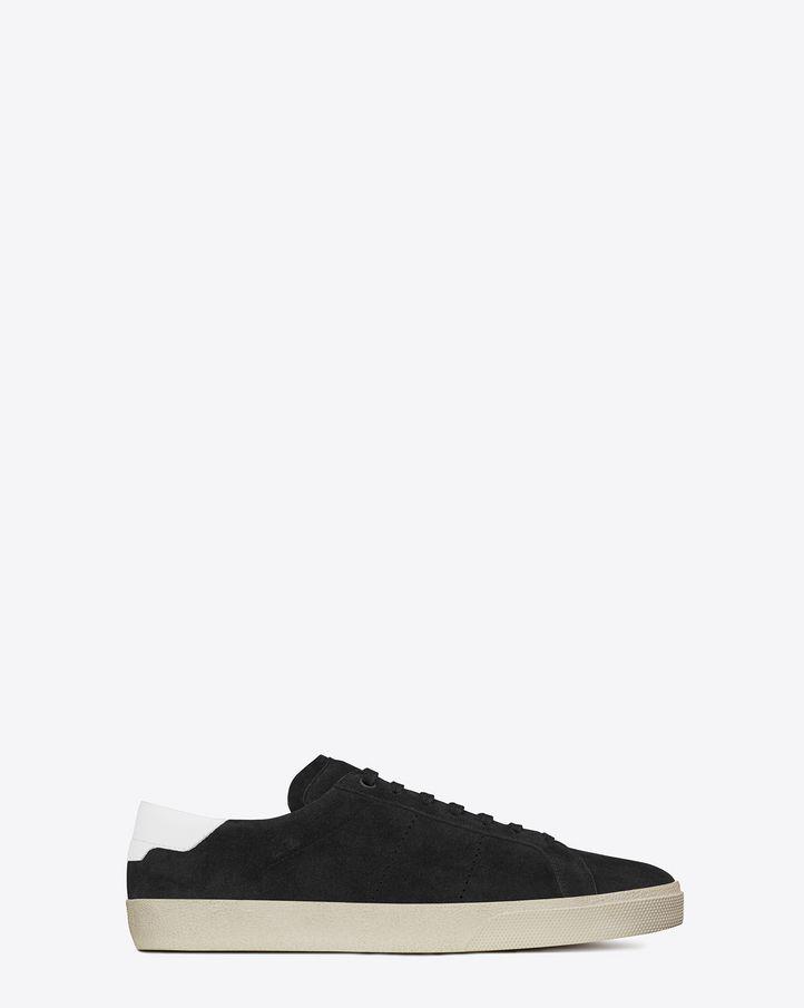 Saint Laurent Sneaker COURT CLASSIC SL 06 En Suède Noir Et En Cuir Blanc  Cassé c80ce027ca0