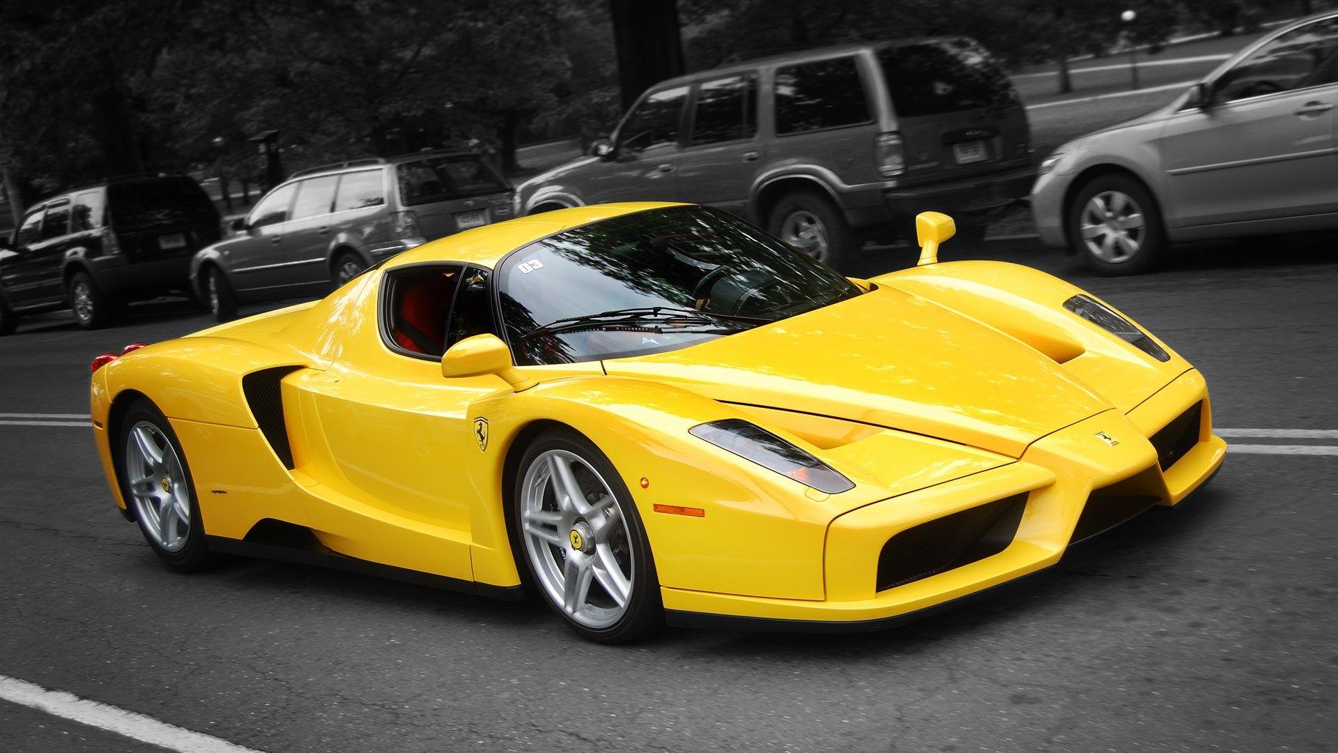 Ferrari Free Desktop Wallpaper Downloads Yellow Ferrari Super Cars Ferrari Enzo
