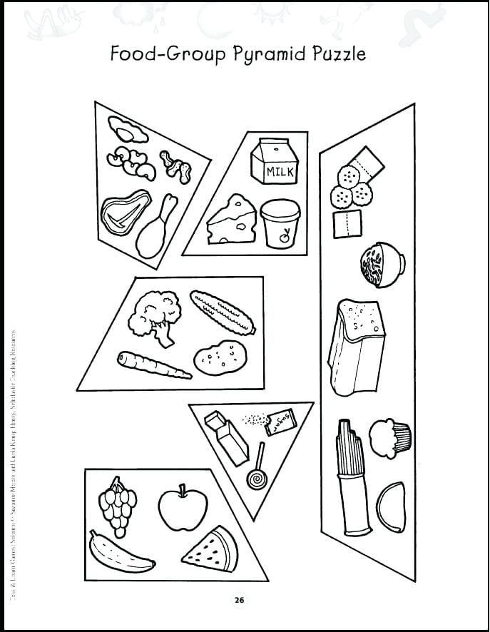 Food Groups Coloring Pages For Preschoolers in 2020 ...