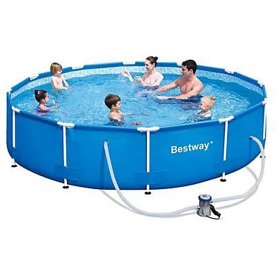 Bestway piscina estructural lt filtro casa for Piscinas pequenas portatiles